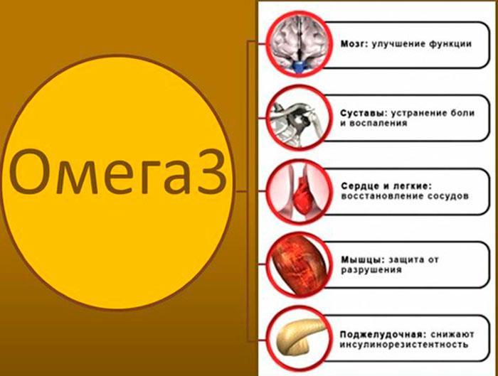 Омега-3 действие на организм