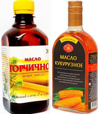 Горчичное и кукурузное масло