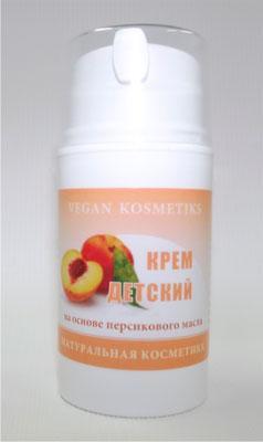 Детский крем на основе персикового масла